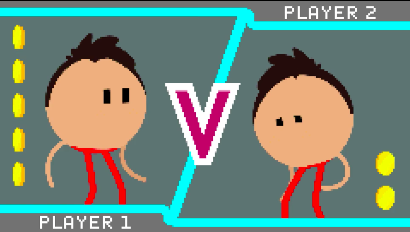 split screen two players in a console game